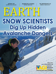 EARTH Magazine cover, March 2016