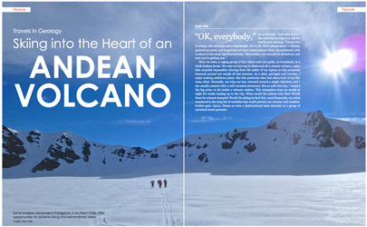 Earth Magazine, Skiing into the Heart of a Volcano