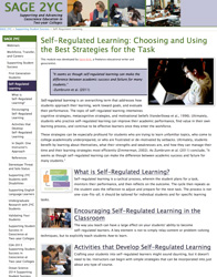 Self Regulated Learning screenshot