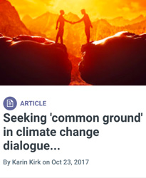Screen shot from Yale Climate Connections - Common Ground on Climate Change