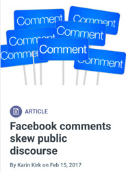 Screenshot: Facebook comments skew public discourse