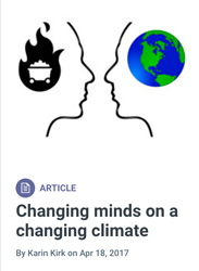 Screenshot: Changing Minds on Changing Climate